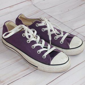 Converse Chuck Taylor Low Top Purple Womens Size 6